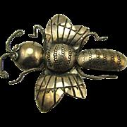 Lg Navajo Moth Bug Sterling Silver Joe Eby Pin 3 Dimensional