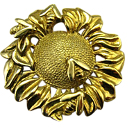 Sterling Gold Figural Bee & Sunflower English Pin