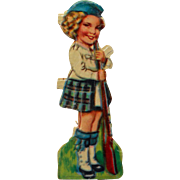 Vintage Rare Shirley Temple Wee Willie Winkie Paper Scrap from Germany