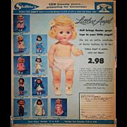 Vintage Original 1955 Arranbee (R&B) LITTLEST ANGEL Large Easter Color Ad (Suitable for Framin