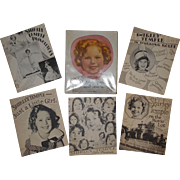 Shirley Temple 5 Books About Me No. 1730 Saalfield 1936 Boxed Set in Orig Box