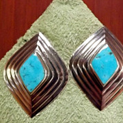 SALE PENDING Sterling Silver and Turquoise Earrings