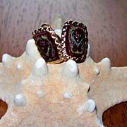 REDUCED Vintage Clip-On Egyptian Marvella Earrings