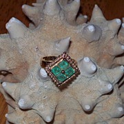 SALE Natural Columbian Emerald and 14 Karat Gold Ring