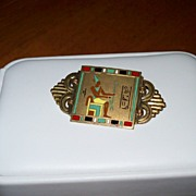 Egyptian Revival Period Enamel Pin