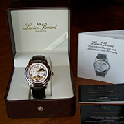 REDUCED Lucien Piccard Moon Phase Watch with Leather Band