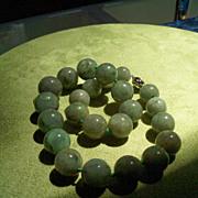SOLD Old NATURAL Burma Jadite Beaded Necklace - 1075 Carats!