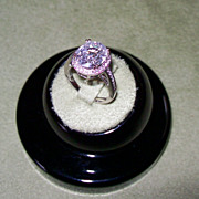 SALE NATURAL White Zircon set with Diamonds in 14 Karat White Gold