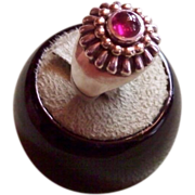 SALE LAGOS Caviar 18 karat and Sterling Silver Pink Tourmaline Ring